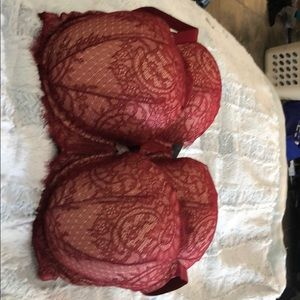 Like New 2 Burgundy Victoria's Secret Bras 38DDD